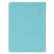 Load image into Gallery viewer, Be Joyful Teal (Handy-Sized LuxLeather Journal)