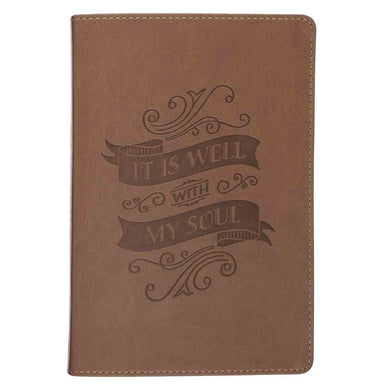 It Is Well With My Soul Brown (LuxLeather Journal)