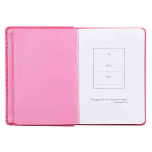 1 Thess 5:16 Be Joyful Pink (LuxLeather Journal)
