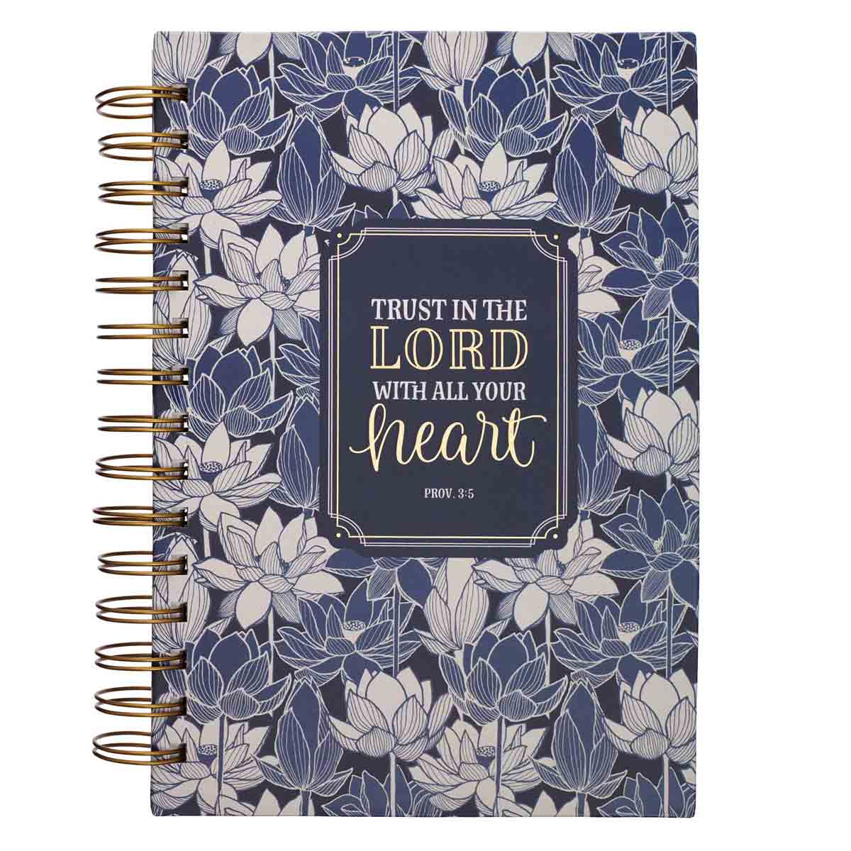 Proverbs 3:5 Trust In The Lord With All Your Heart (Large Hardcover Wirebound Journal)