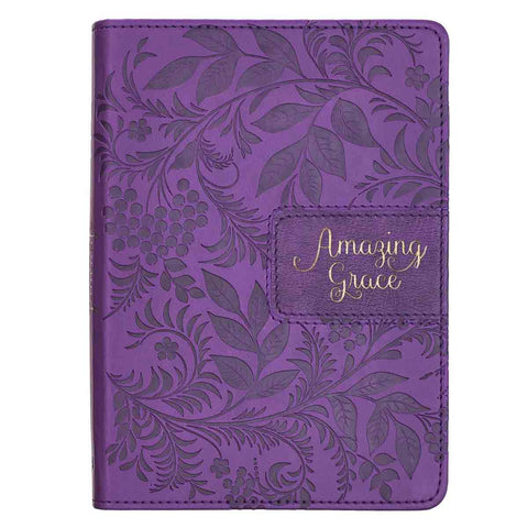 Amazing Grace Purple (Faux Leather Journal)