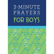 Load image into Gallery viewer, 3 Minute Prayers For Boys (Paperback)