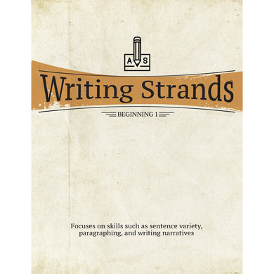 Writing Strands: Beginning 1 (Paperback)
