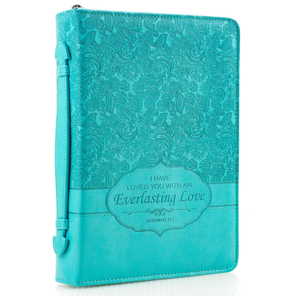 I Have Loved You With An Everlasting Love (LuxLeather Bible Bag)