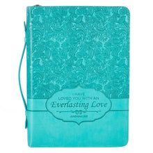 Load image into Gallery viewer, I Have Loved You With An Everlasting Love (LuxLeather Bible Bag)