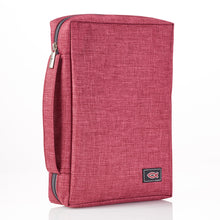 Load image into Gallery viewer, With Fish Badge Burgundy (Polyester Bible Bag)