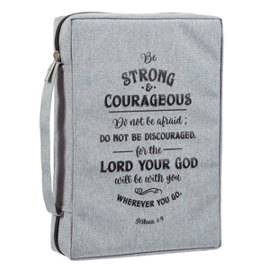 Be Strong And Courageous Large (Polyester Bible Bag)