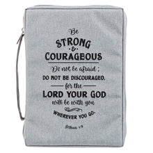 Load image into Gallery viewer, Be Strong And Courageous Large (Polyester Bible Bag)