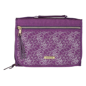 With Faith Badge Purple (Polyester Bible Bag)