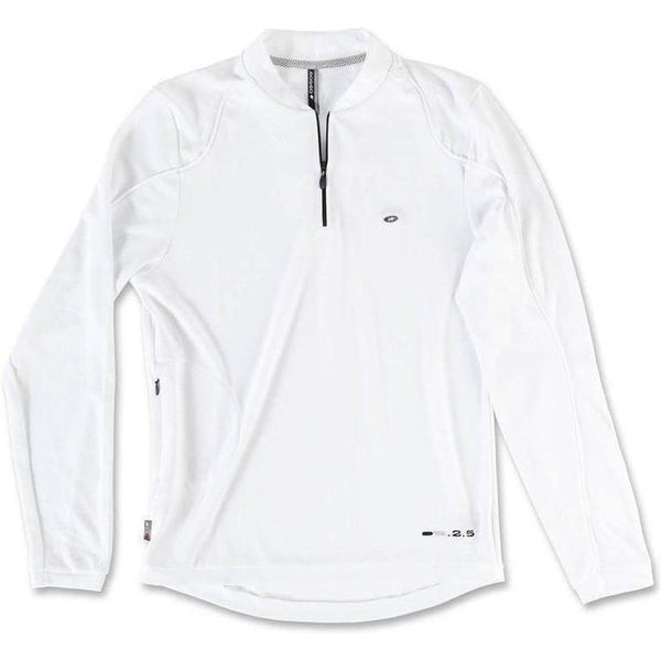 Assos Dopo Bici Activity Polo Long Sleeve White-bikeZaar