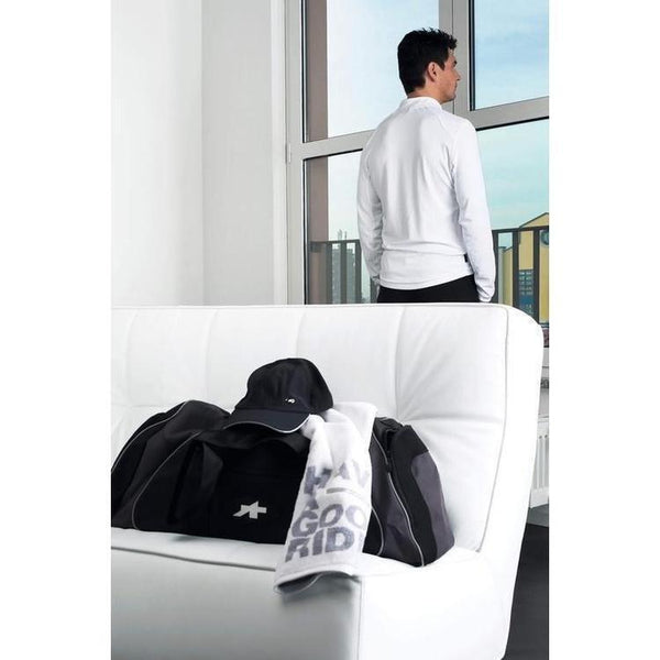 Assos Dopo Bici Activity Polo Long Sleeve White-M-bikeZaar