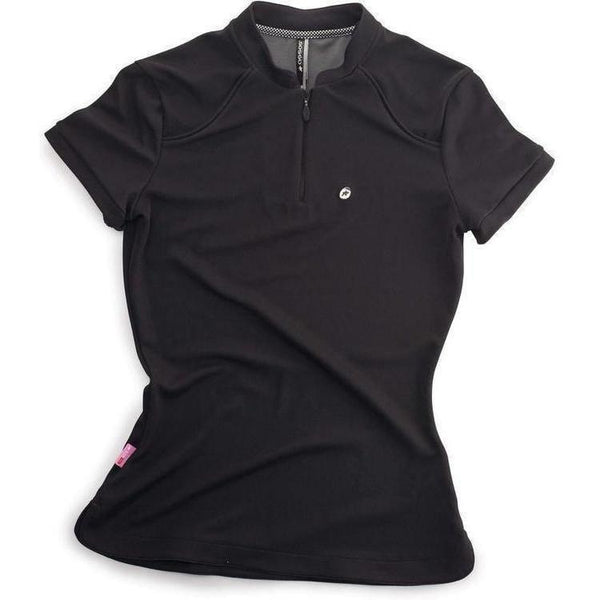 Assos Dopo Bici Activity Polo Short Sleeve Lady Black-bikeZaar