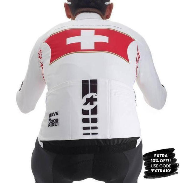 Assos IJ Suisse Olympiakos Long Sleeve Jersey-XS-Clothing-Assos, Assos Outlet, Black, In Stock Only, Jerseys, L, Large, Long Sleeve, Mens, On Sale, Red, Road, S, Small, Support, White, Winter, X-Large, X-Small, XL, XLG (XXL), XS, XX-Large, £50 - £100-13.24.251.99.XS-bikeZaar