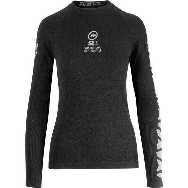 Assos Long Sleeve Skin Foil Spring/Fall_EVO7 Base Layer Black-bikeZaar