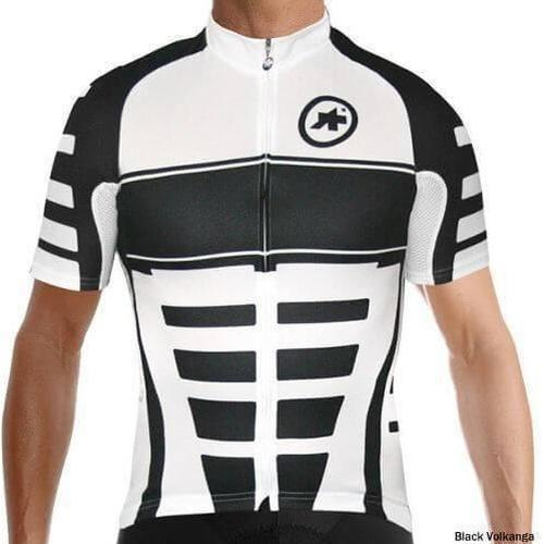 Assos Short Sleeve Corporate_S7 Jersey Black Volkanga-S-Clothing-bikeZaar