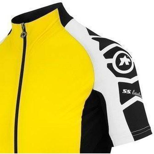 Assos Short Sleeve Laalalai Jersey_EVO7 Lady Volt Yellow-M-Clothing-Assos, Assos Outlet, In Stock Only, Jerseys, L, Large, Lightweight, M, Medium, On Sale, Road, Short Sleeve, Womens, X-Large, XL, Yellow, £50 - £100-12.20.258.33.M-bikeZaar
