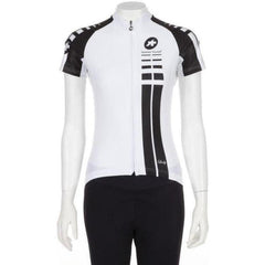 Assos Short Sleeve Lady Jersey White Panther-bikeZaar