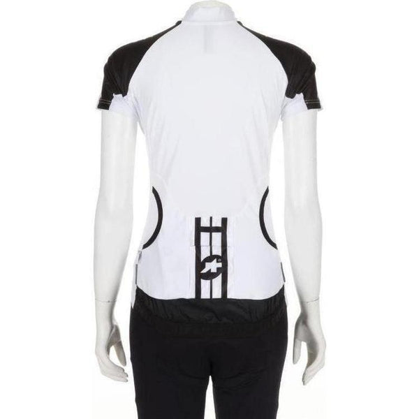 Assos Short Sleeve Lady Jersey White Panther-XS-Clothing-Assos, Assos Outlet, In Stock Only, Jerseys, L, Large, M, Medium, On Sale, Road, S, Short Sleeve, Small, White, Womens, X-Large, X-Small, XL, XS, £50 - £100-12.20.216.56.XS-bikeZaar