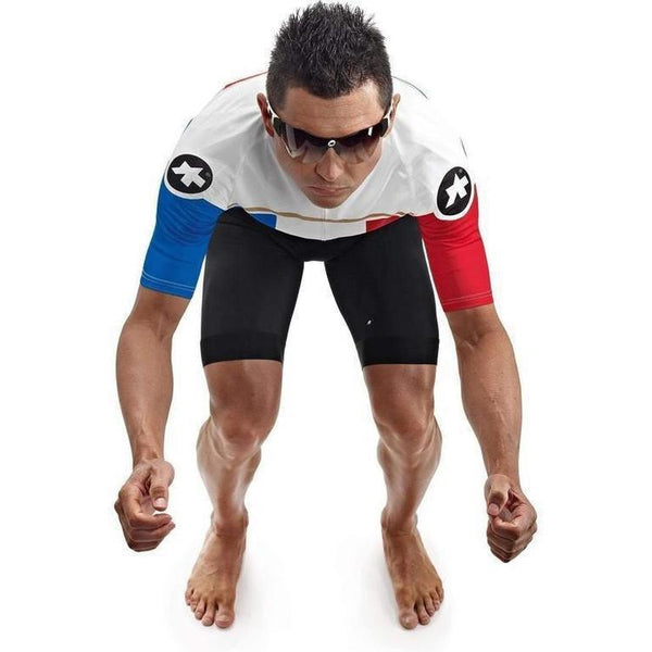 Assos Short Sleeve Neo Pro Jersey France-XS-Clothing-Assos, Assos Outlet, Below £50, Blue, In Stock Only, Jerseys, M, Medium, Mens, On Sale, Red, Road, S, Short Sleeve, Small, White, X-Large, X-Small, XL, XS-13.20.253.96.XS-bikeZaar
