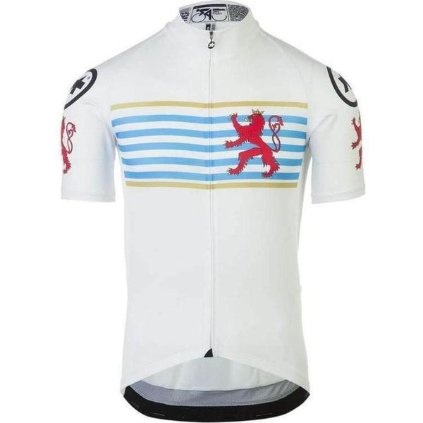 Assos Short Sleeve Neo Pro Jersey Luxemburg-XS-Clothing-Assos, Assos Outlet, Below £50, Blue, In Stock Only, Jerseys, M, Medium, Mens, On Sale, Red, Road, S, Short Sleeve, Small, White, X-Small, XS-13.20.253.90.XS-bikeZaar
