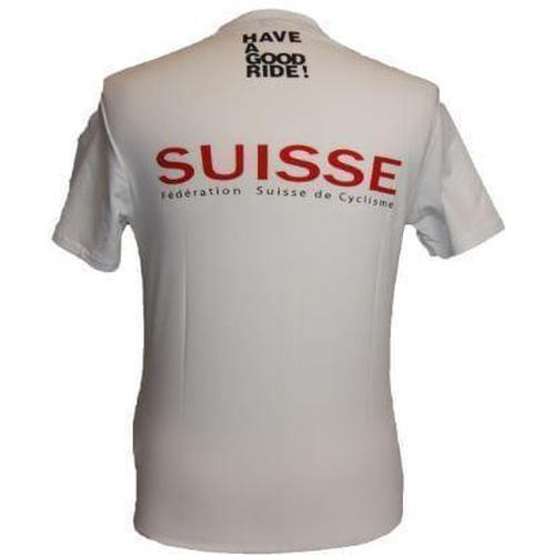 Assos Short Sleeve T-Shirt Equipe Suisse White-XS-Clothing-bikeZaar