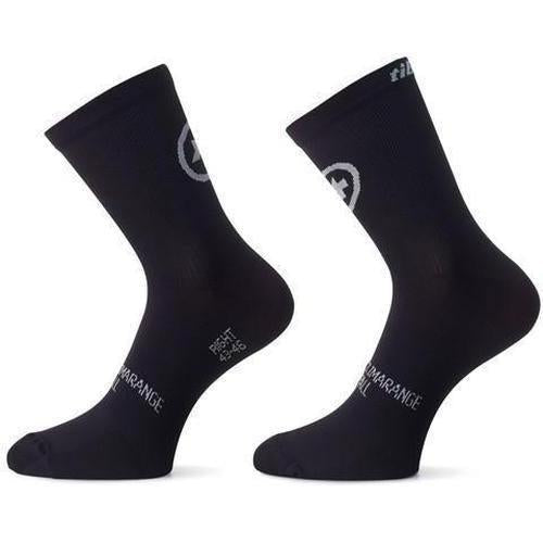 Assos Tiburu Socks EVO8 Black Series / Twin Pack