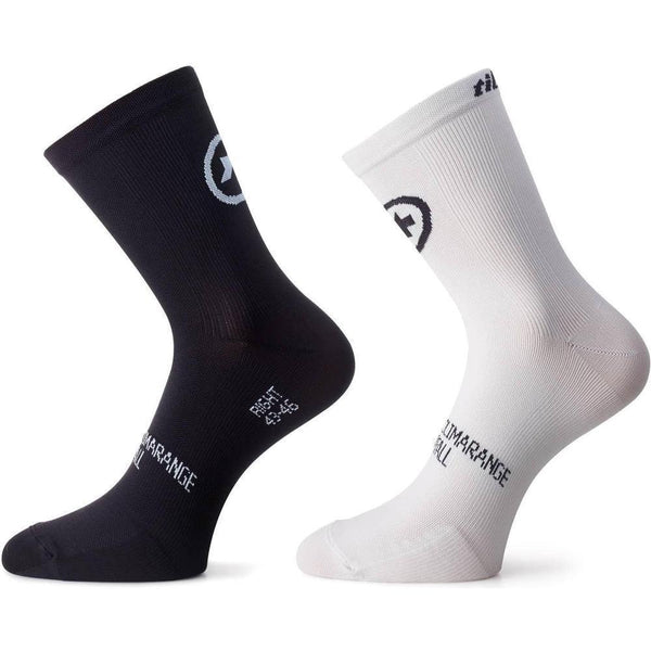 Assos Tiburu Socks EVO8 Holy White / Twin Pack