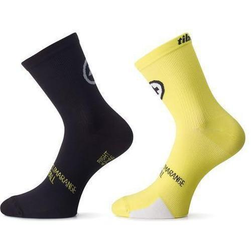 Assos Tiburu Socks EVO8 Volt Yellow / Twin Pack
