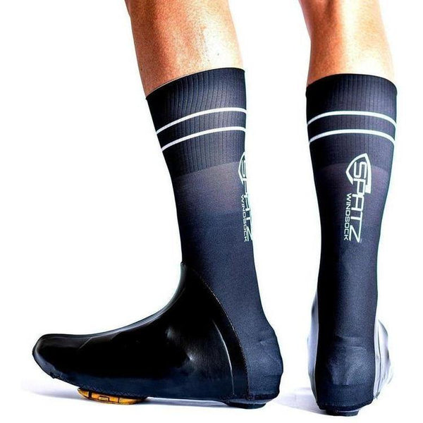 Spatz Windsock Black Shoe Covers-bikeZaar