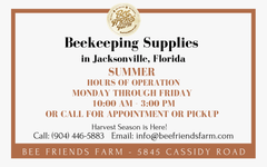 Summer 2020 Beekeeping Supplies Update: Summer Hours and Harvest Supplies | Bee Friends Farm