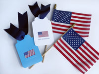 American Flag Gift Tags, Set of 20