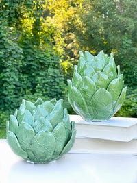 Green Artichoke Tea Light Candle Holder
