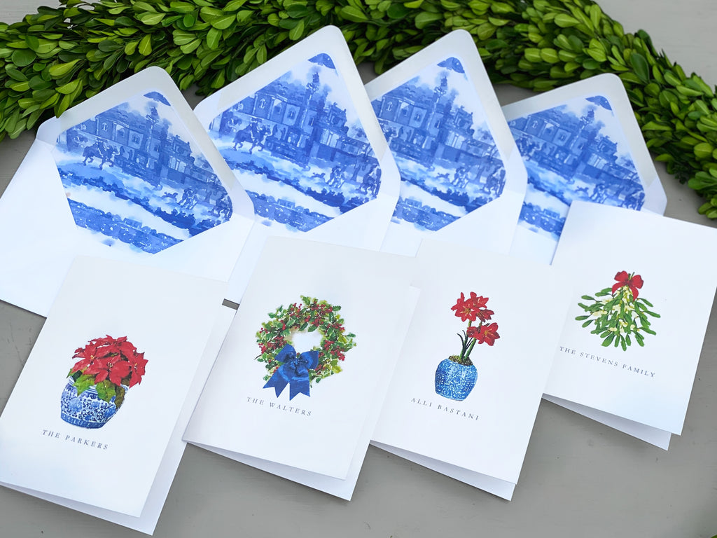 Botanical Christmas Fold-Over Stationery