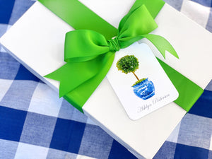 Boxwood Topiary Gift Tags, Set of 20