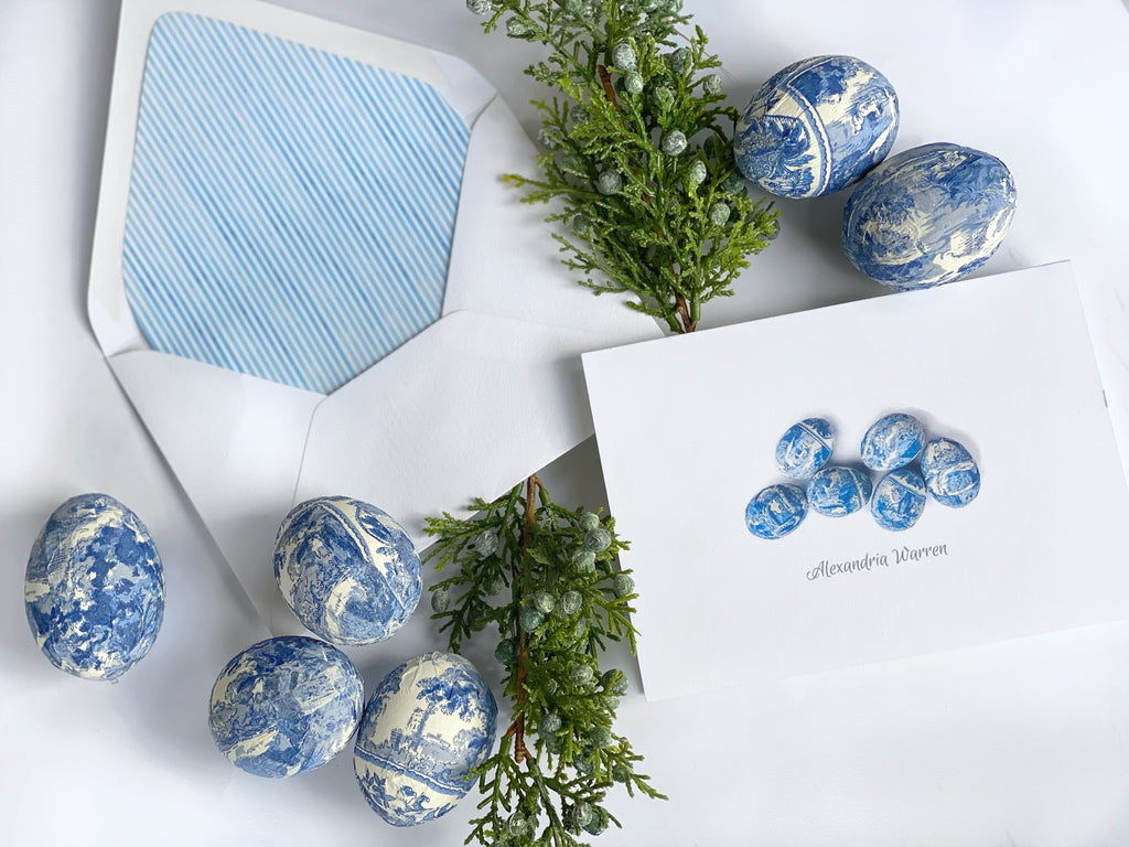 Chinoiserie Easter Egg Fold-Over Stationery