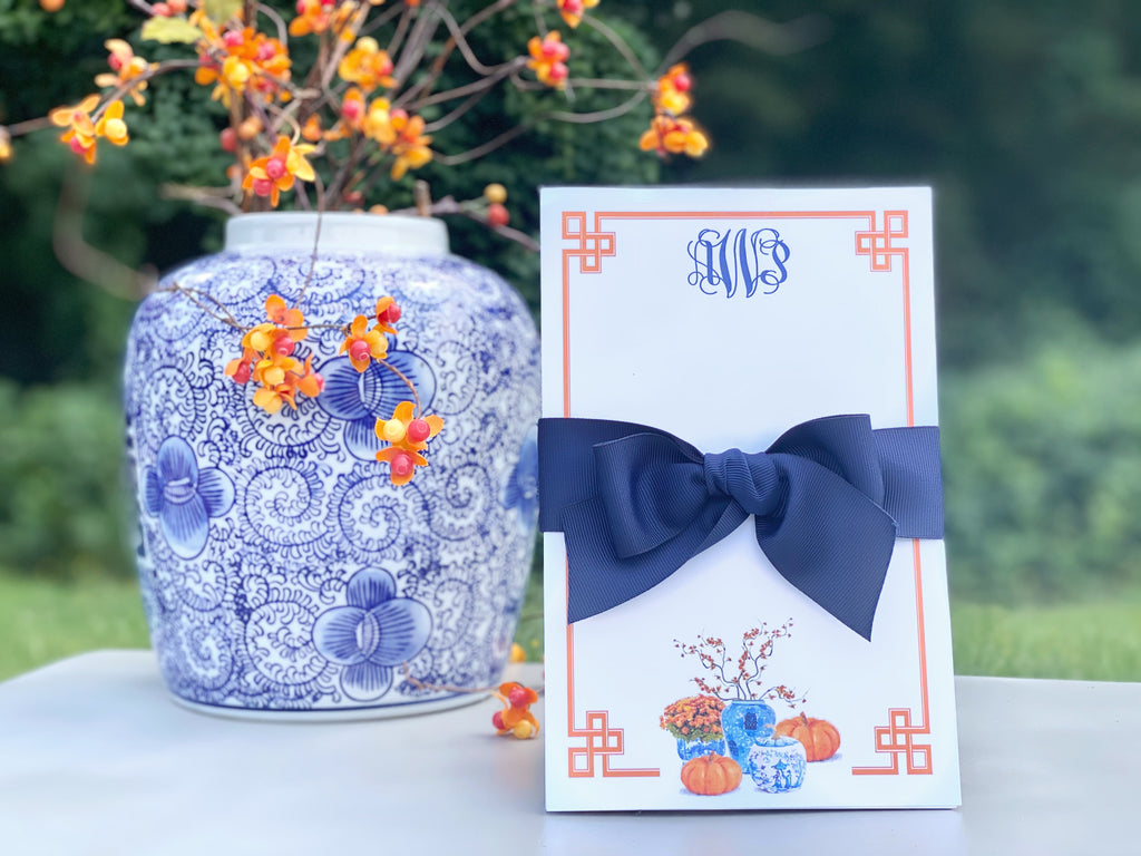 Chinoiserie Pumpkin Notepad