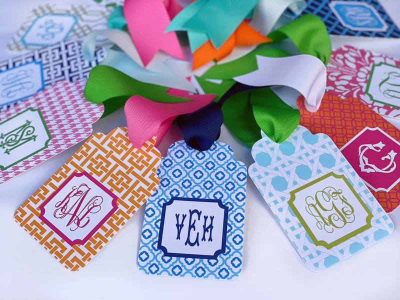 Aqua & Lime Gift Tags, Set of 20