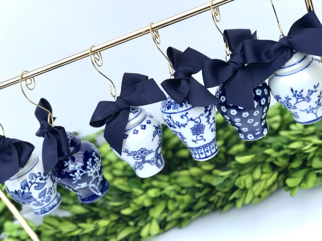 Blue Ginger Jar Ornaments