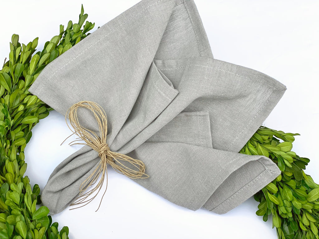 Solid Gray Napkins, Set of 4