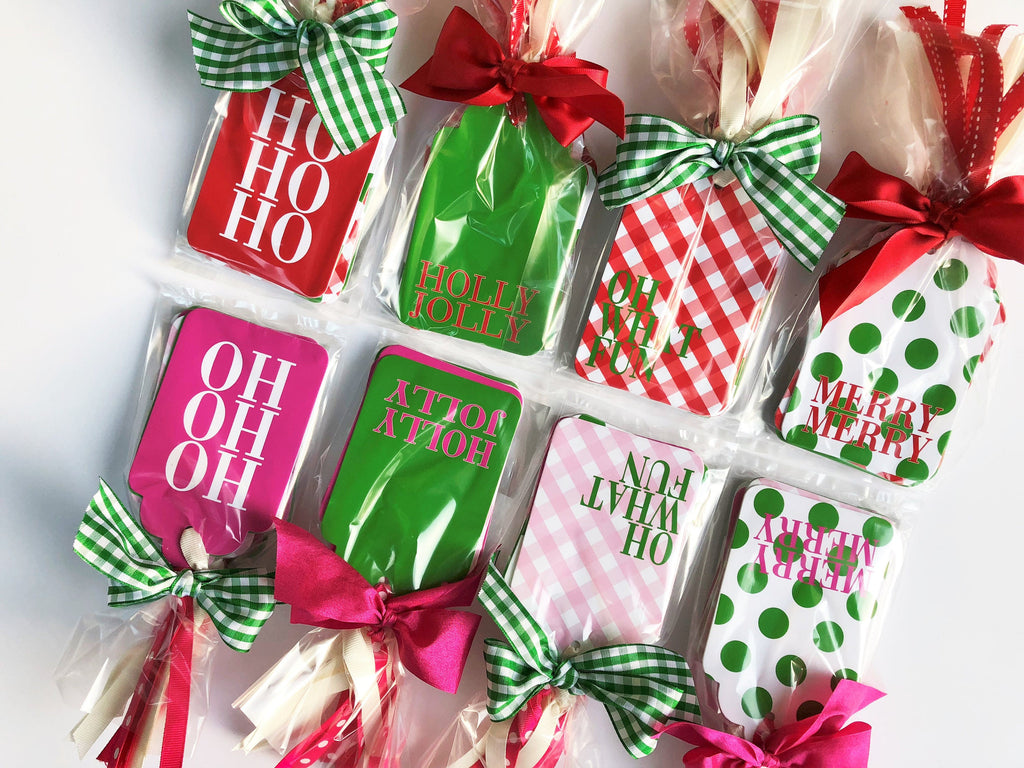 Holly Jolly Assorted Pink/Green or Red/Green Gift Tags