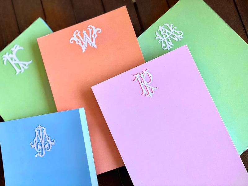 2 - Letter Couture Notepads