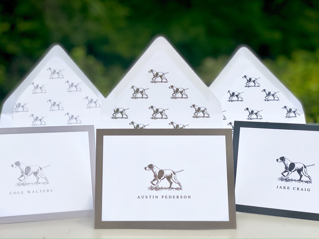 Men's Hunting Dog Fold Over Stationery
