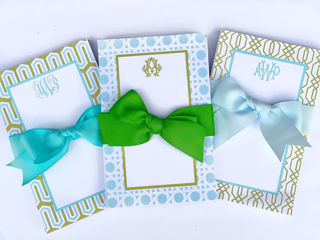 Aqua & Lime Notepads
