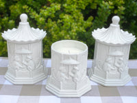 White Ceramic Pagoda Chinoiserie Candle & Gift Box
