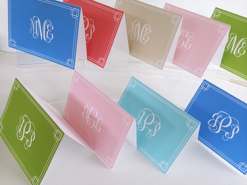 Single Color Fold Over Stationery