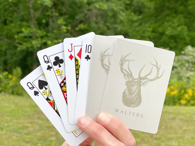 Men's Stag Poker Cards