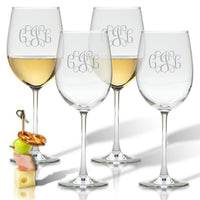 Wine Glasses Engraved, Set of 4