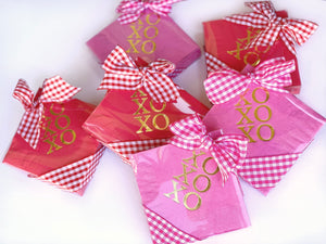 XOXO Paper Napkins, Red or Pink