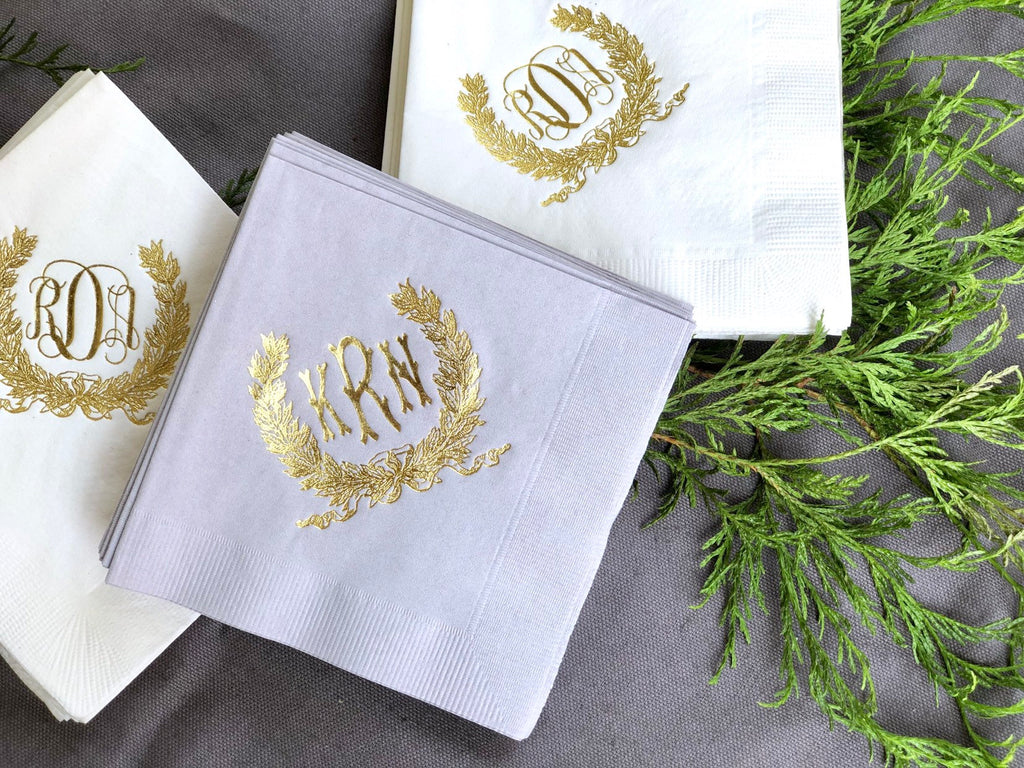 Savannah Wreath Cocktail Napkins