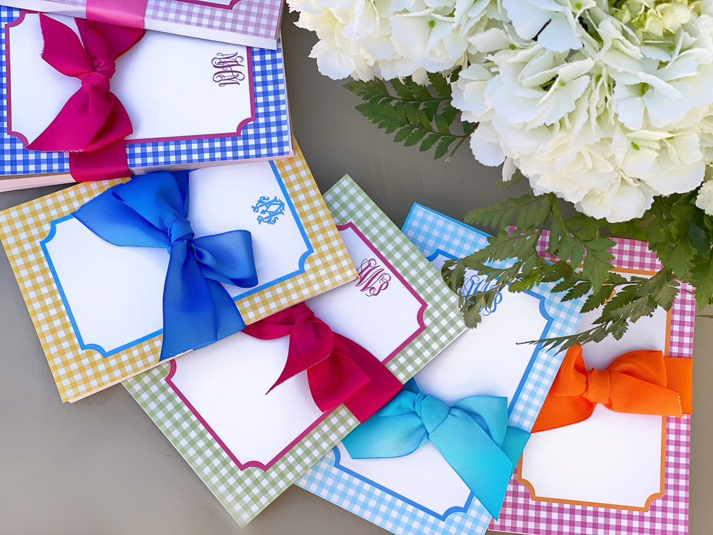 Gingham Notepad